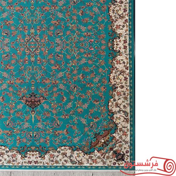 فرش-ماشینی-افسانه-1200شانه-فیروزه-ای-1